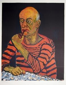 Alice Neel Portrait of John Rothschild 1980 Original Signed Art Lithograph