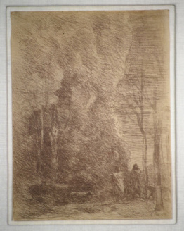 Camille Corot Dante and Virgil (Dante et Virgile), 1858 Framed Etching