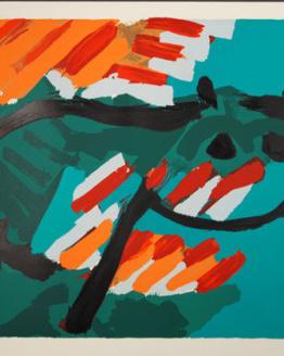 Karel Appel GREEN CAT Original Signed Art 1978 Lithograph