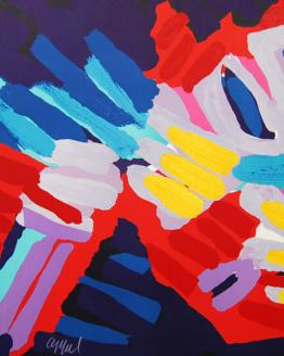 Karel Appel SLEEPY BIRD Rare Pencil Signed Lithograph Abstract Art 1980