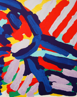 Karel Appel Walking Colors Pencil Signed Original Abstract Art 1980