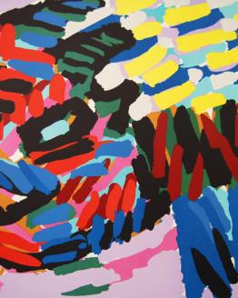 Karel Appel Here I am again Pencil Signed Original Abstract Art 1980