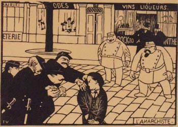 Félix Vallotton L'anarchiste, (the anarchist) 1892 Original Woodcut