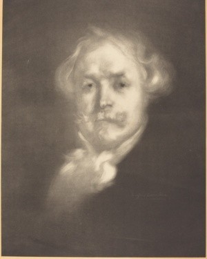 Eugène Carrière (french, 1849 - 1906), Edmond de Goncourt, signed lithograph