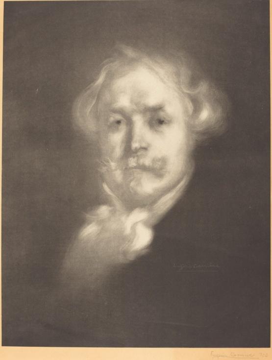Eugène Carrière (french, 1849 - 1906), Edmond de Goncourt, signed lithograph