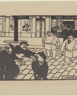 Félix Vallotton L'anarchiste, (the anarchist) 1892 Original Woodcut