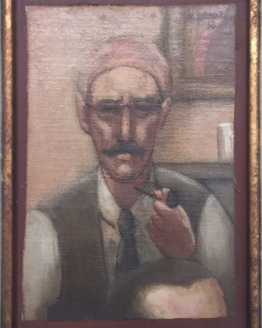 Horace Brodzky Self-Portrait Oil Painting Signed 1956